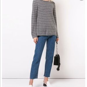 Strips Bell Sleeves Vince Cashmere